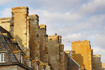 roofs of saint malo, france