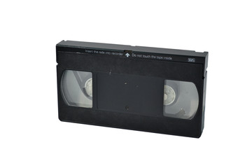 vhs tape on white bg