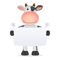 funny cartoon cow
