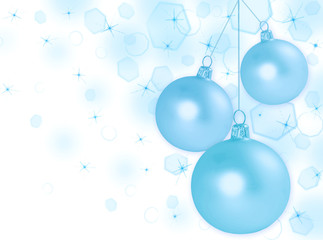 Abstract Christmas background with balls