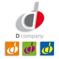 Oval Logo initial letter D # Vector