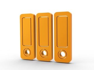 3d Icon Ordner orange