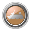 """Bronze 3D Style Button """"Cruise Liner"""""""