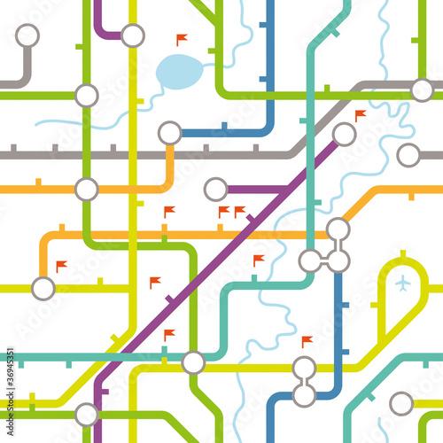 Subway map texture