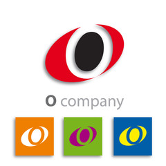 Oval Logo initial letter O and 0 # Vector