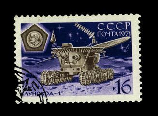 USSR, shows moon rover