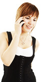 Attractive teenage girl talking on the phone