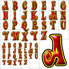 abc alphabet background action design