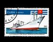 CUBA, Flota pesquera cuba buque transportador refrigerado, 1978