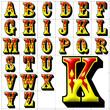abc alphabet background coffee font design