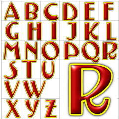 abc alphabet background testarossa font design