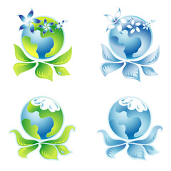 Set beautiful Ecology Logo 9