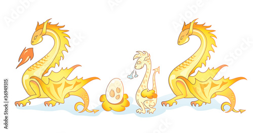 Family of yellow dragons 3