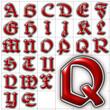 abc alphabet background belwe font design