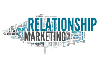 "Word Cloud ""Relationship Marketing"""