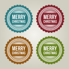 Christmas labels set vector illustration