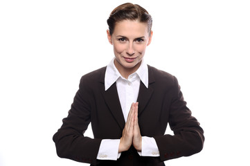Young business woman woman in meditation