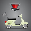 Retro scooter,vector