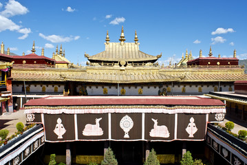 Over the Jokhang Temple roof, Lhasa Tibet