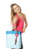 Sourire enfant fait les courses