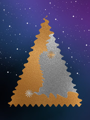 Gold & Silver Christmas Tree