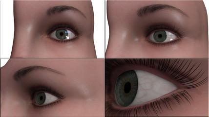 occhio visualizzazione 3d iride cornea lasik laser