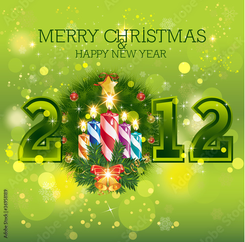 Merry Christmas Happy New Year 2013 By Mac Creatives Royalty Free