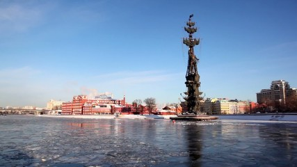 Monument to Peter Great on Moskva river