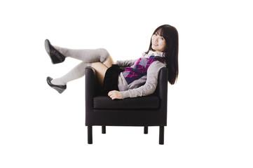 Chinese school girl portrait