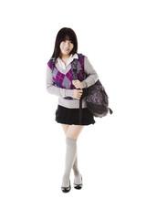 Chinese school girl portrait.