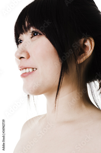 Portrait of a beautiful Chinese woman.