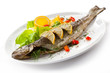 Fish dish - roast trout and vegetables