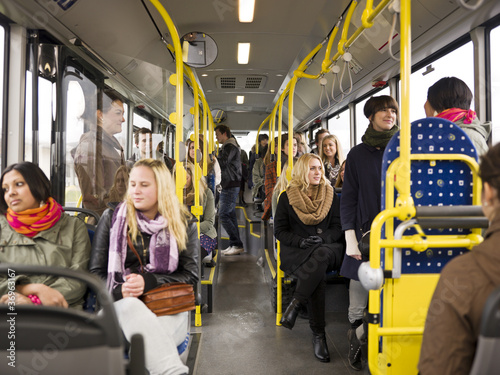People in a bus