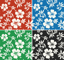 hibiscus flower fabric pattern