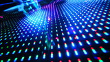 rhythmically flashing colored lights poster