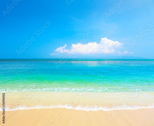 beach and tropical sea. Koh Samui, Thailand