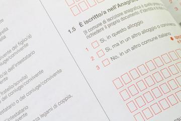 questionario censimento