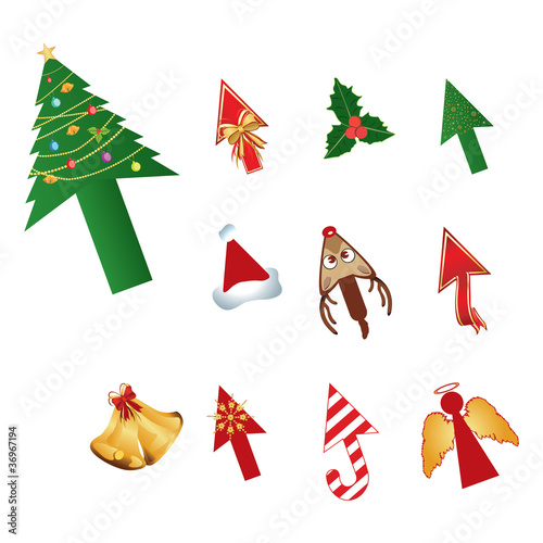 Christmas design cursors vector