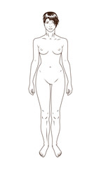 Naked standing woman