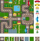 Fototapety Map scheme of streets