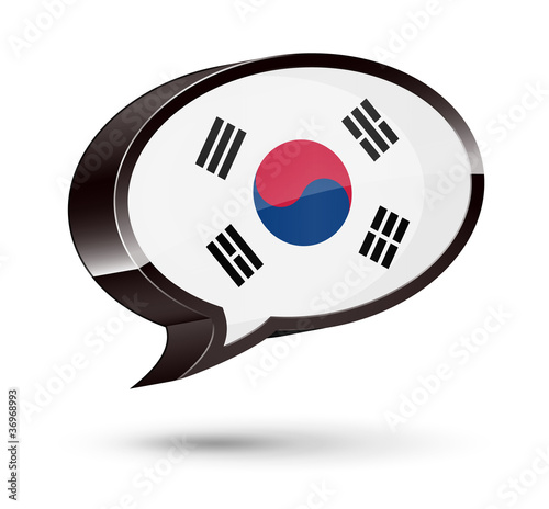 """Korean-Speaking"" 3D Speech Bubble"