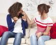 girlfriends joking teasing