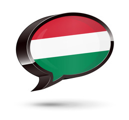 """Hungarian-Speaking"" 3D Speech Bubble"