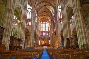 Paris - interior of Saint Denis cathedral