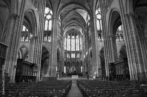 Paris - interior of Saint Denis cathedral