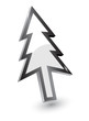 Vector mouse arrow pointers,Xmas tree version, 3d