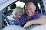 seniors enjoying a car trip