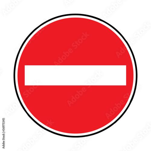verkehrszeichen einfahrt verboten verkehrszeichen der. Black Bedroom Furniture Sets. Home Design Ideas