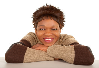 Smiling African American Lady