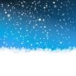 Winterlandschaft, verschneit, Schneeflocken, Kristalle